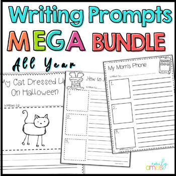 Writing Prompts MEGA BUNDLE for all months over 480 pages!