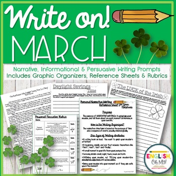 Writing Prompts {March}-Persuasive, Informational, Narrative