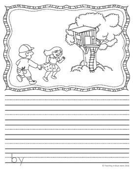 Picture Writing Prompts for May {Easy Writing Center Activity}