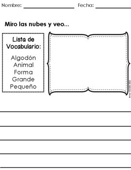 Spanish Writing Prompts May