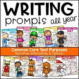 Writing Prompts Bundle | CCSS Text Purposes: Opinion, Informative, Narrative