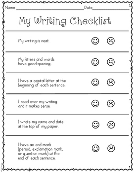 First Grade: Writing Sample 1