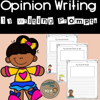 Opinion Writing Prompts for all Elementary Grades