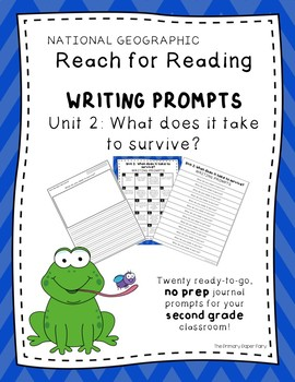 Writing Prompts-National Geographic Reach for Reading Unit 2 Grade 2: Adaptation