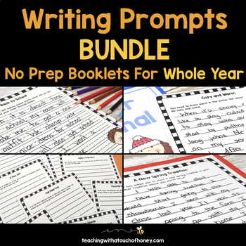 Writing Prompts No Prep Booklets BUNDLE - For The Whole Year