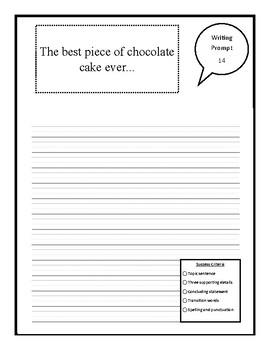 Writing Prompts (No Prep) Package 2 - Descriptive, Persuasive, Opinion, POV