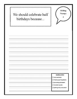 Writing Prompts (No Prep) Package 3- Descriptive, Persuasive, Opinion, POV