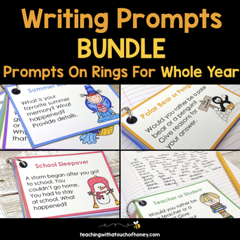 Writing Prompts On Rings Bundle - For The Whole Year