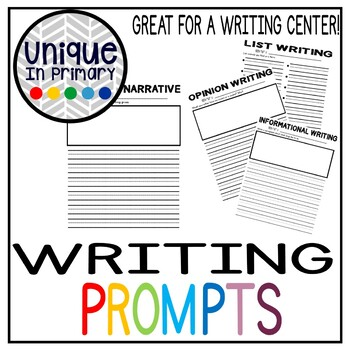 Writing Prompts (Opinion, Info, Narrative, List and Letter Writing)