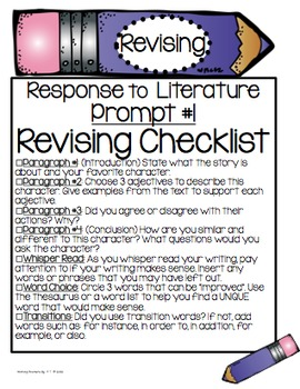 Writing Prompts: Opinion, Narrative, Informational, Response to Literature