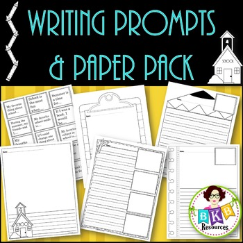 Writing Prompts & Paper Pack