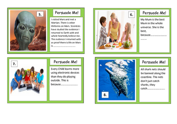 Writing Prompts - Persuade Me - Task Cards