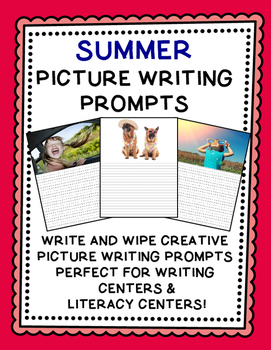 Writing Prompts {Picture Writing Prompts for June and July}