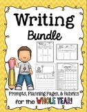 Writing Prompts, Planning Pages, and Rubrics All Year Long!