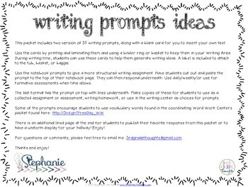 Writing Prompts: President's Day