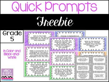 Writing Prompts - Quick Prompts FREEBIE