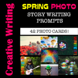 Writing Prompts - SPRING Printable Photo Cards for Journal Writing