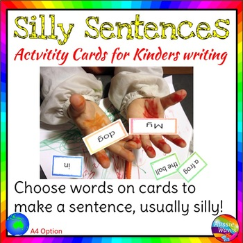 Silly Sentence Builders Independent Writing Prompts Station Activity