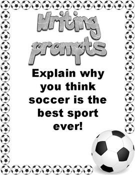 Writing Prompts: Soccer