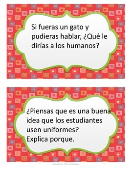 Writing Prompts (Spanish)