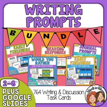 Writing Prompts  Task Card Bundle: 764 Cards in Five Sets!