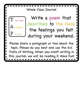 Writing Prompts - TAP