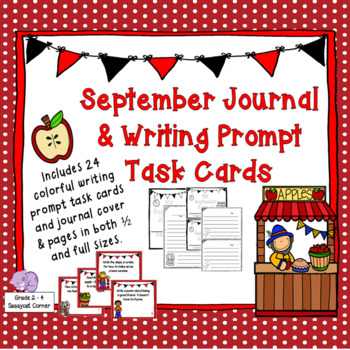 Writing Prompts Task Cards - September Edition