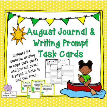Writing Prompts Task Cards - August Edition
