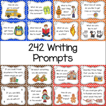 Writing Prompts Task Cards The Whole Year Bundle