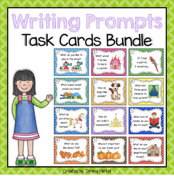 Writing Prompts Task Cards for the Whole Year