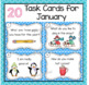 Writing Prompts Task Cards for December, January and February