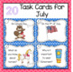 Writing Prompts Task Cards for Summer
