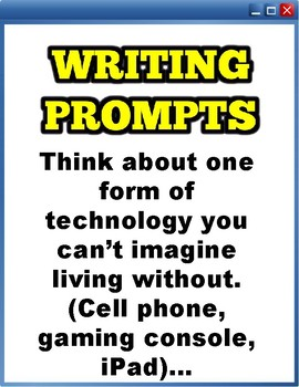 Writing Prompts: Technology