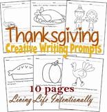 Writing Prompts - Thanksgiving (Kindergarten, 1st Grade)