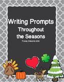 Writing Prompts Throughout the Seasons