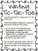 Writing Prompts: Tic-Tac-Toe