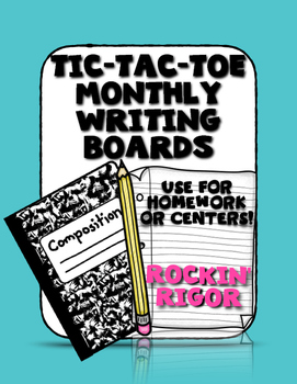 Writing Prompts - Tic-Tac-Toe Writing Boards