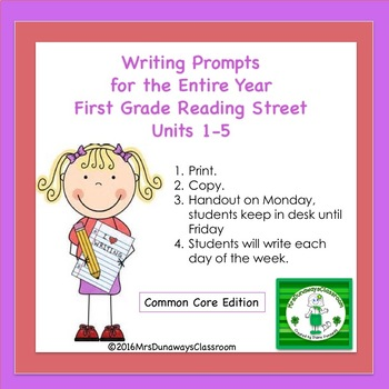 Writing Prompts Units 1-5 Gr. 1 Reading Street
