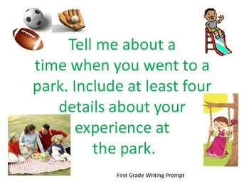 Writing Prompts Visual - 1st and 2nd Grades