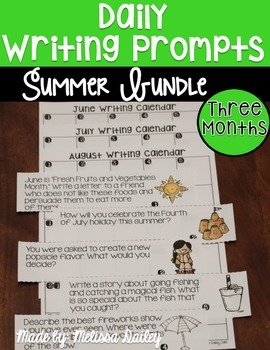 Writing Prompts Summer Bundle {June, July, August}