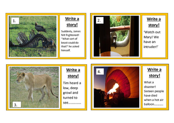 Writing Prompts - Write a story from a stimulus.