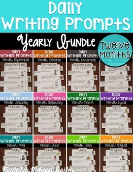 Writing Prompts YEAR LONG Bundle {September - August}