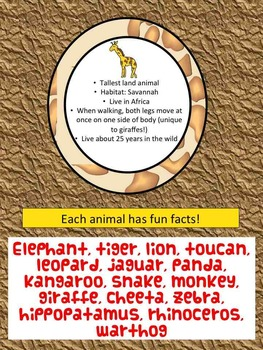 Writing Prompts - Zoo or Jungle Animal Facts and Research for Writing