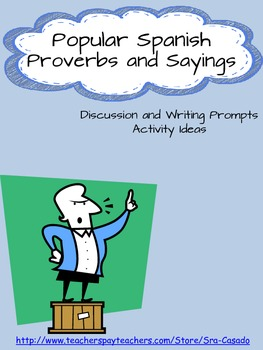 Writing Prompts and Activities with Popular Spanish Saying