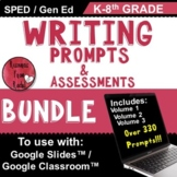 Writing Prompts and Assessment for grades K-8 (use with Go