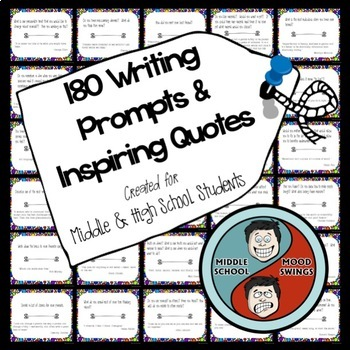 Writing Prompts and Inspiring Quotes For Middle and Highschool