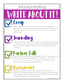 Writing Lessons and Writing Prompts - Write About It! Spring Edition
