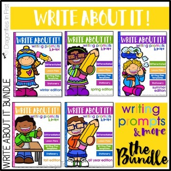 Writing Prompts and Lessons - Write About It! The Bundle