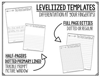 Writing Prompts and Levelized Templates (Spring)