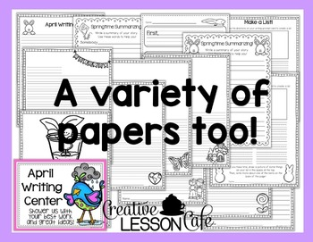 Writing Center Prompt Cards and Papers - April